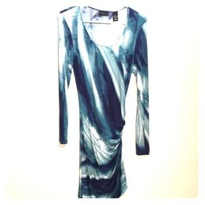 New York and co dress medium rouched side Teal